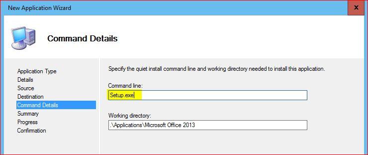 Application Command Details