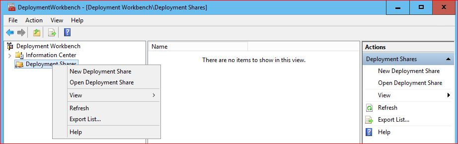 Create a New Deployment Share