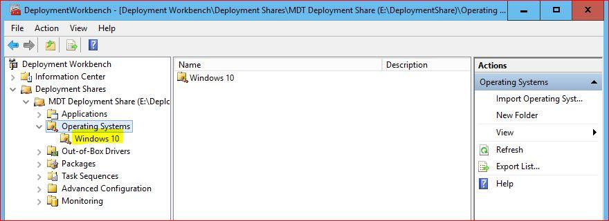 Deploy Windows 10 using MDT
