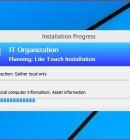 Running Lite Touch Installation to Upgrade to Windows 10