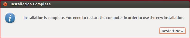 Ubuntu Installation Complete
