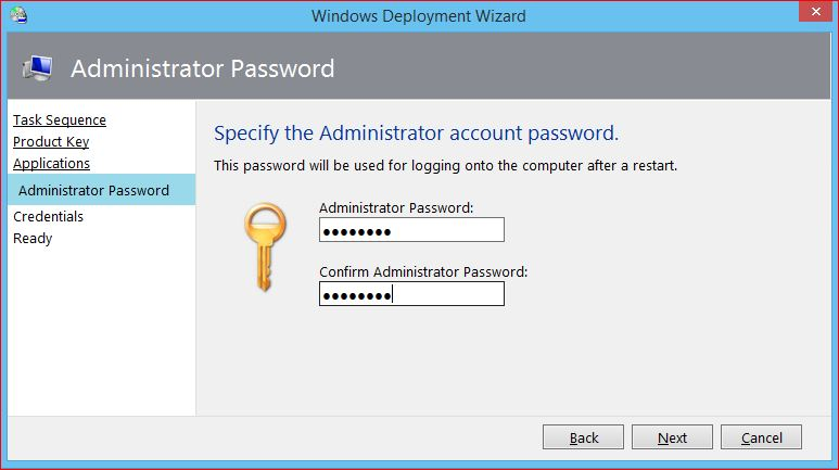 Windows 8 Local Administrator Password