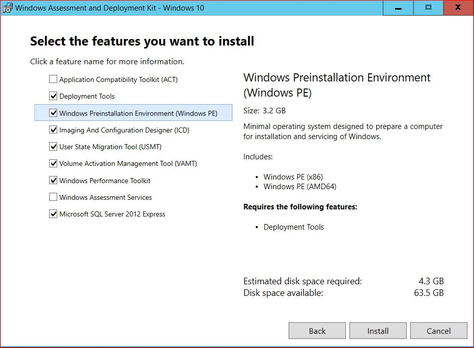 Windows Assessment and Deployment Kit Features