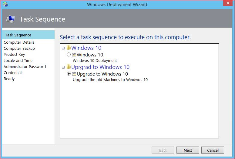 Windows Deployment Wizard