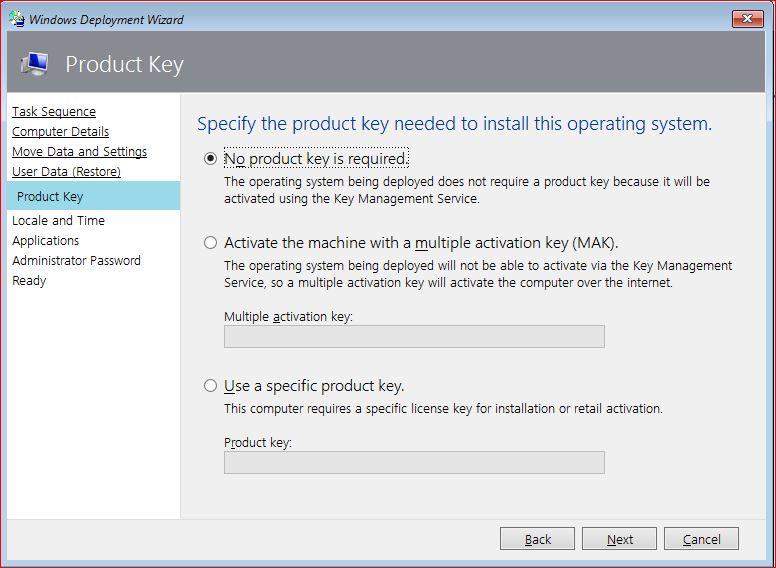 Windows Product Key - Deploy Windows 10 Using MDT