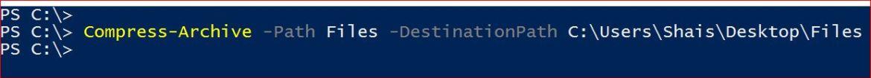 Compress a Folder wtih Command Line in Windows