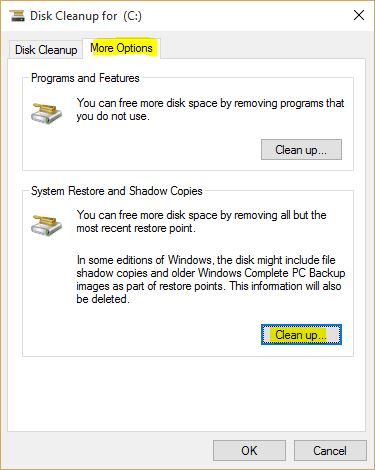 Delete Windows 10 System Restore and Shadow Copies