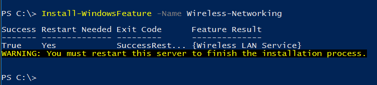 Install Wireless LAN Networking Services with PowerShell