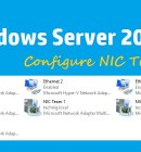 Configure NIC Teaming - Technig