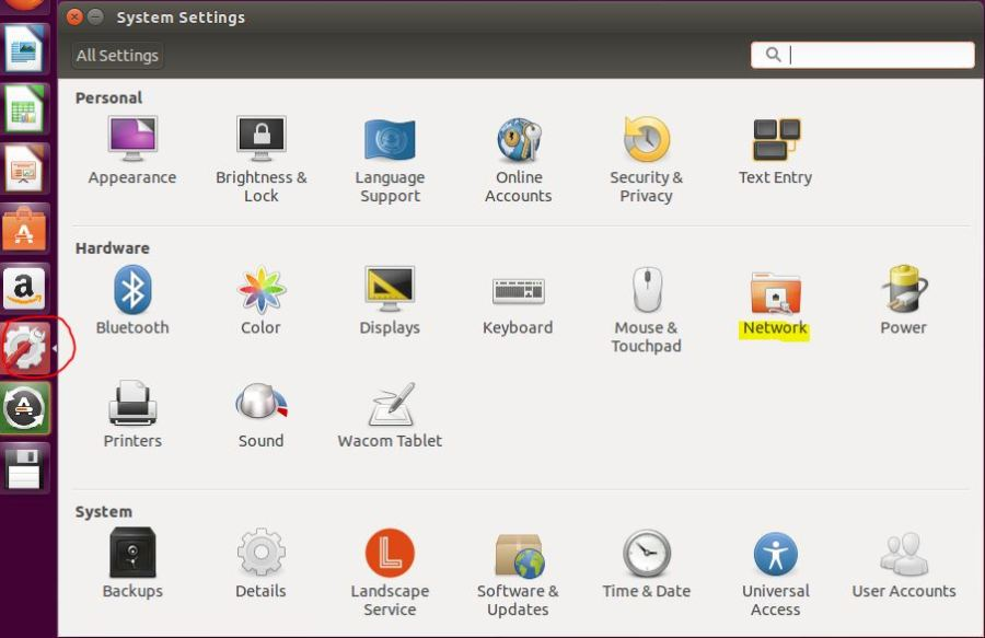 Ubuntu System Settings
