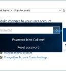 Windows Control Panel - User Accounts - Technig