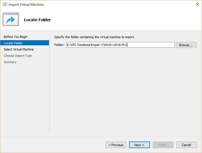 Hyper-v virtual Machines directory