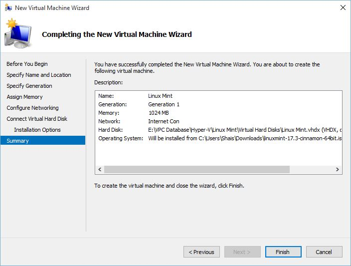 How to Install Linux Mint on Hyper-v Windows 10?