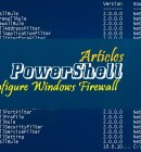 Configure Windows Firewall with PowerShell -Technig