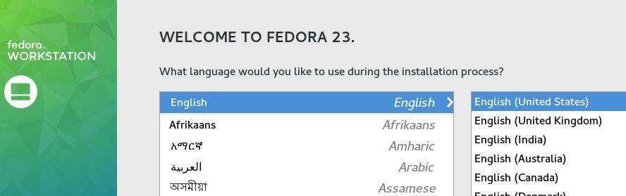 Linux Fedora Language and Keyboard