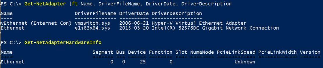 Network Adapter Information