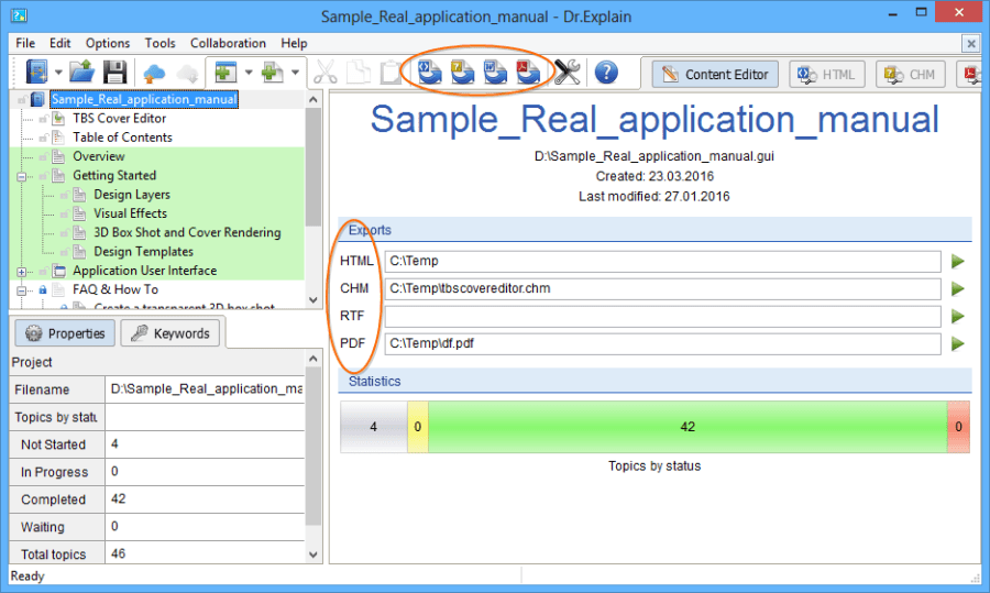 Simple Real Application Manual - Efficient User Manuals Creation