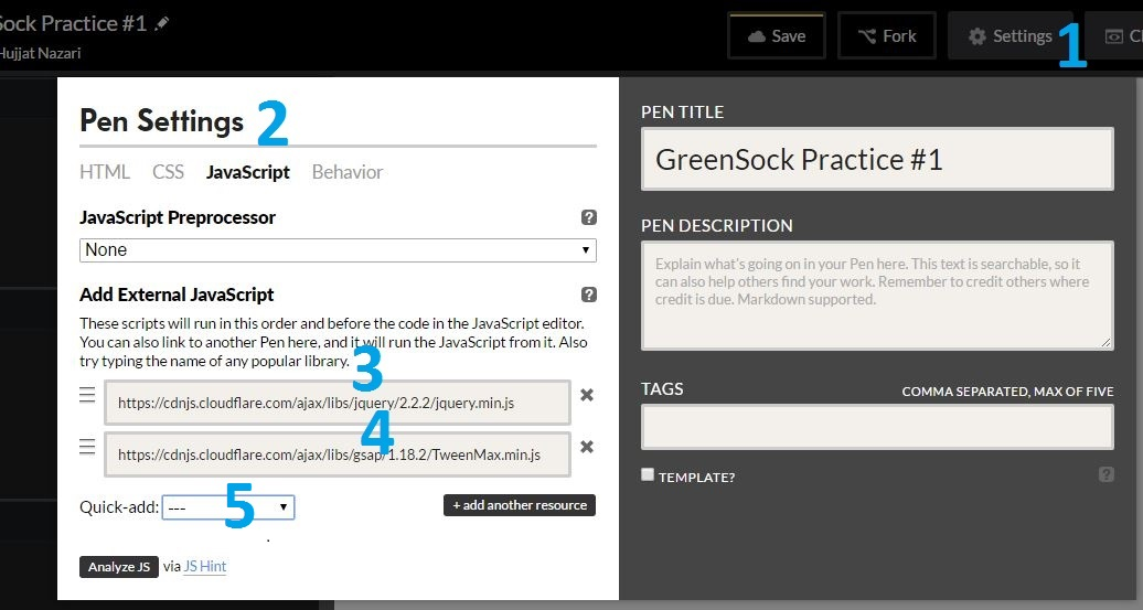GreenSock Animation Setting up and Configuring Part 2 - Technig
