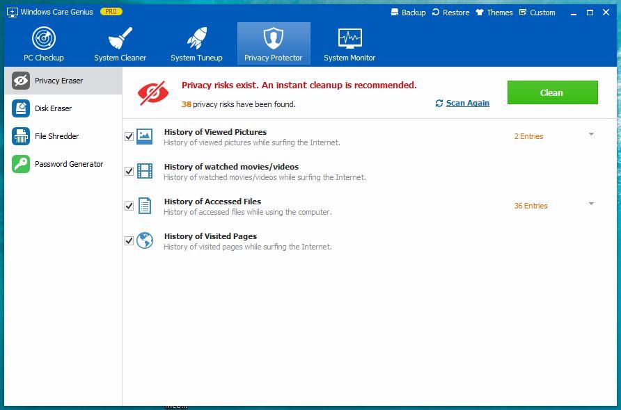 Windows Care Genius - Privacy Protector