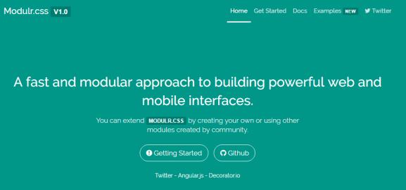 Modulr-css Framework
