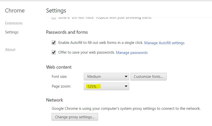 How to Change Google Chrome Default Zoom for Large Screen