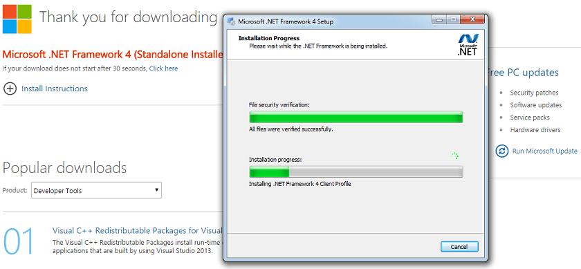 microsoft net framework 4.6 free download for windows 7