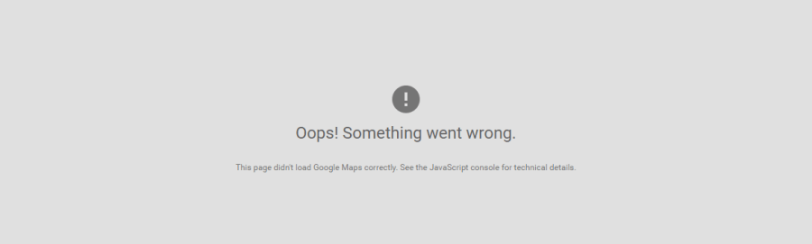 Oops! Something went wrong with Google Maps