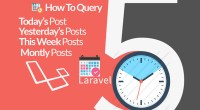 Laravel 5 query posts by dates