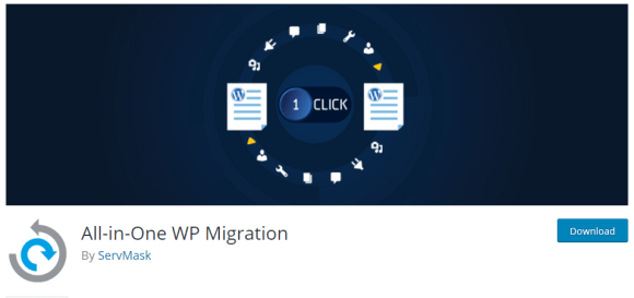 All-in-One WP Migration top 5 best WordPress clone site plugin