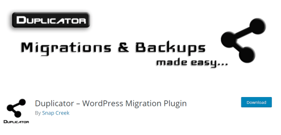 Duplicator - Best WordPress Cloning plugins