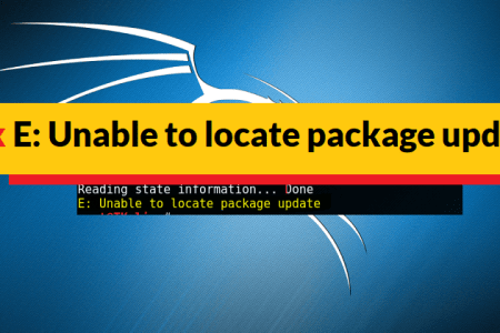 How to Fix Unable to Locate Package Update in Kali Linux