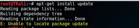 Fix Unable to locate package update Kali Linux