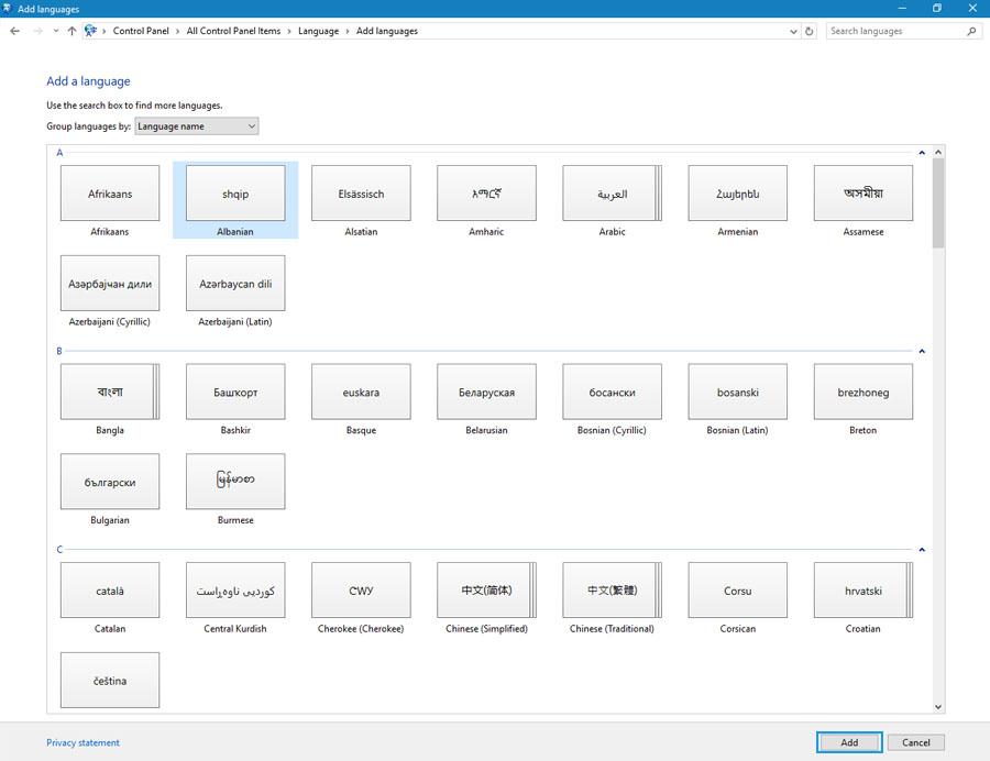 Add or Remove Language in Windows 10 - Technig