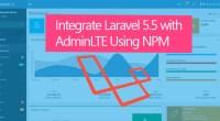 AdminLTE Plus Laravel 5 Integration with NPM
