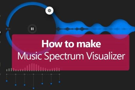 How to Make Music Spectrum Visualizer on Desktop?- Technig