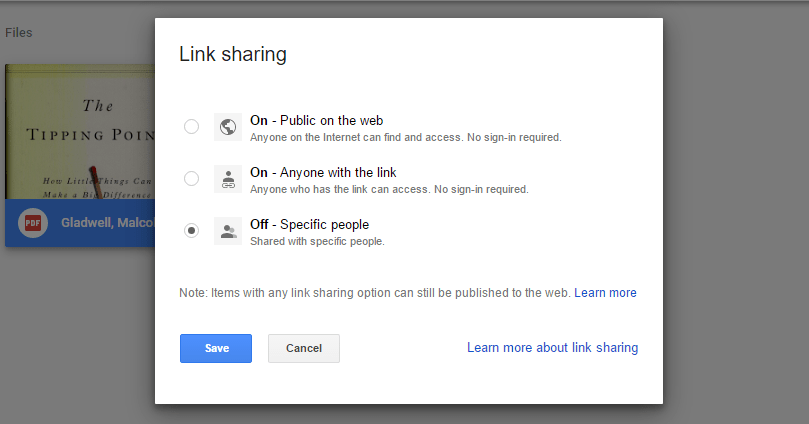 Google Drive Secure File Link Sharing - Technig