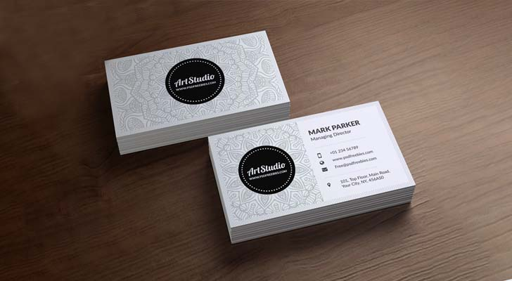 Top 20 free business card templates with psd files technig modern business card template technig accmission Images