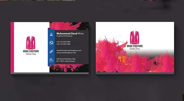 Top 20 free business card templates with psd files technig simple business card template technig accmission Image collections