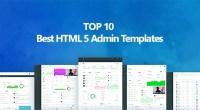 Top 10 Best Premium HTML 5 Admin Templates