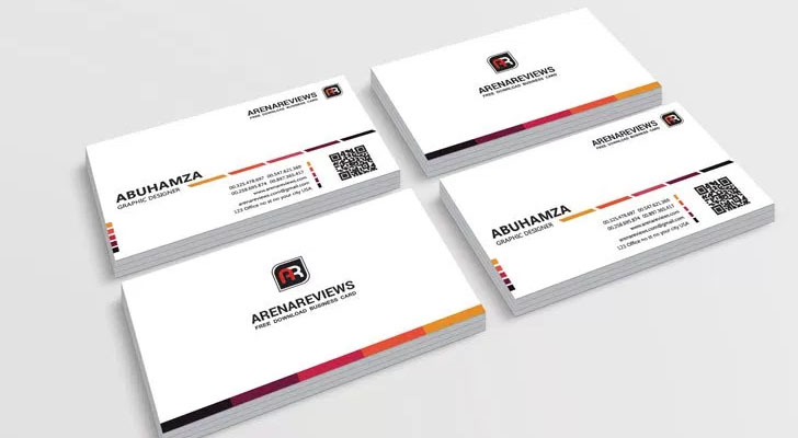 Top 20 free business card templates with psd files technig white business card template technig accmission Image collections