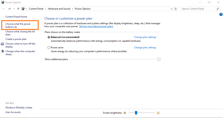 Windows 10 Power Option Settings - Technig