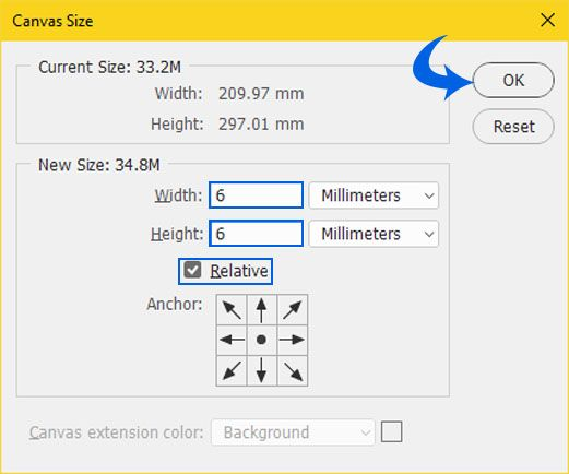 Canvas size The Document