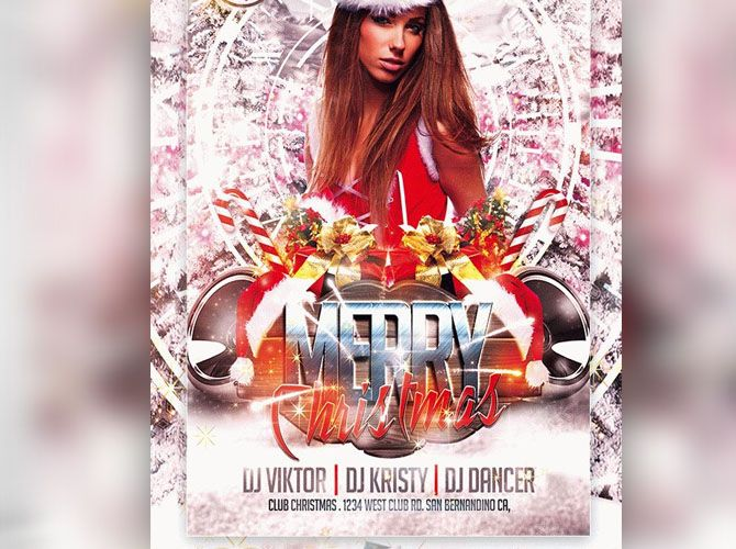 Merry Christmas Party Flyer - Technig