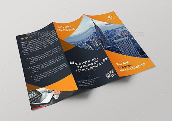 corporate tri fold brochure technig