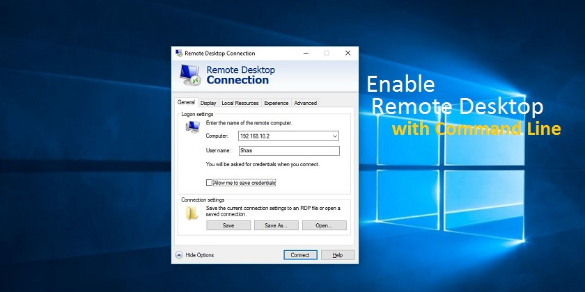 How to Enable Remote Desktop using Command in Windows 10 - Technig