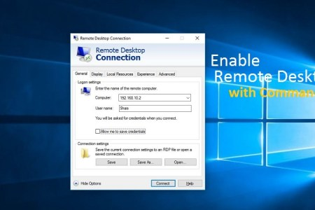 How to Enable Remote Desktop using Command in Windows 10
