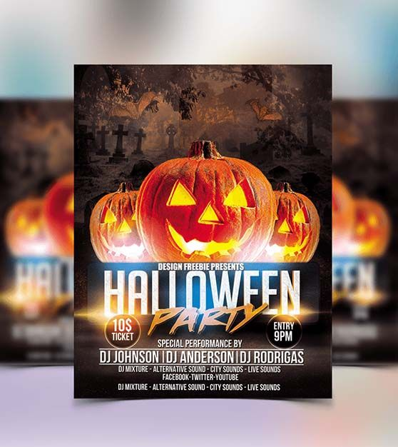 10 Best Free Halloween Party Flyer Template for 2017 - Technig