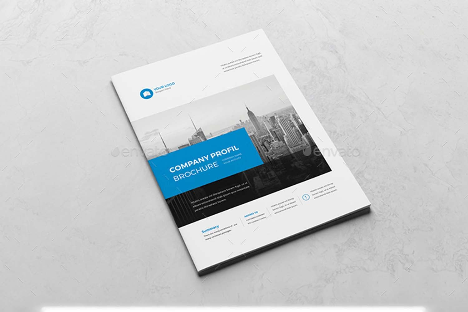 company brochure template technig