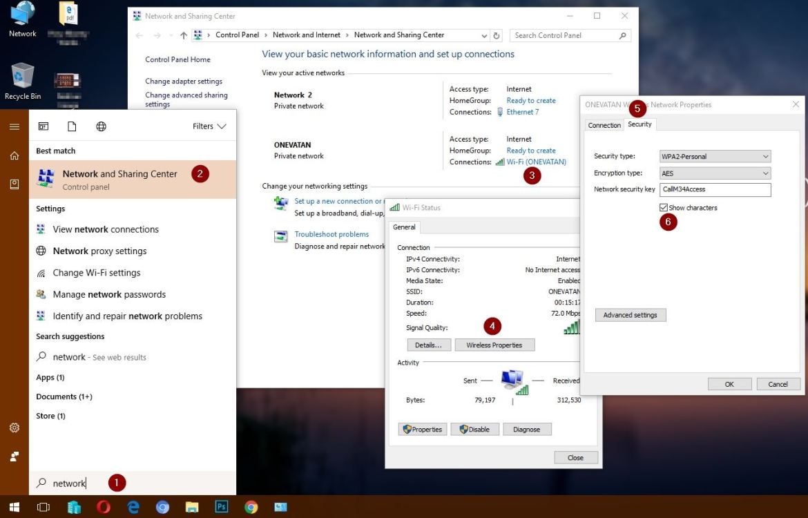 How to Find Windows 10 WiFi Password - Technig