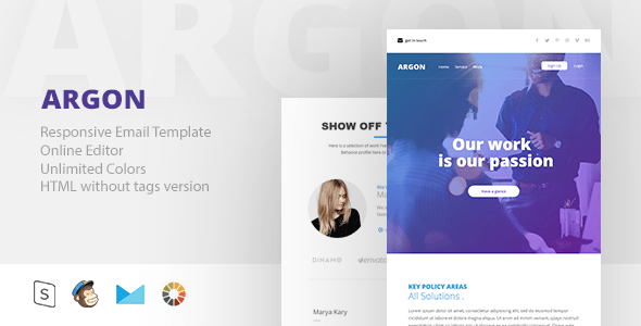 The ARGON - Responsive Email + StampReady Builder